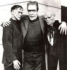 """Herman makes a few friends on the set of """"The Munsters""""."""