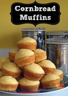 My niece is a fabulous cook and today she was kind enough to share this great cornbread muffins recipe with me!