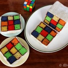 Rubik's Battenburg Cake by Instructables Member: stasty 7.26.11