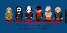 Horror Movie Serial Killers and Maniacs - Cross Stitch PDF Pattern Download Halloween, Scream, Saw, A Nightmare on Elm Street, The Silence of th...
