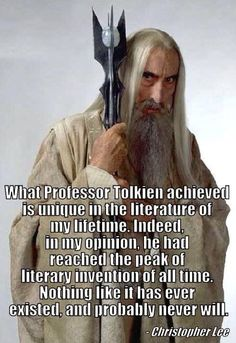 Happy 92nd Birthday! Christopher Lee praising the genius of Tolkien. From one Legend to another!!!