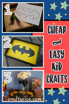 Keep   the kids busy this summer so you can have five minutes of sanity. Cut out   your stencil and use it to draw on your symbol. I put the yellow coat on the   whole tray and added the black around the edges prior to drawing the batman   symbol on. It took 3 or 4 coats before it looked really good (which means   more peace and quiet time for you while the kids paint). Paint in your symbol   with your color of choice and let it dry for an hour or so.