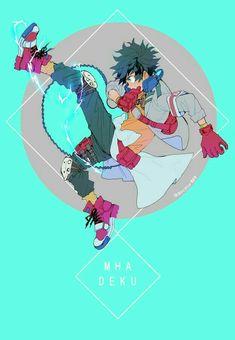 "Midoriya ""Deku"" Izuku, text; My Hero Academia"