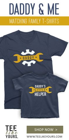 Diy Father's Day Gifts, Great Father's Day Gifts, Father's Day Diy, Matching Family T Shirts, Father Son Matching Shirts, Trending Christmas Gifts, Christmas Gift For Dad, Fathers Day Crafts, Gifts For Father