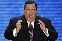 Chris Christie imagines eating convention crowd on a hoagie...Mmmmm