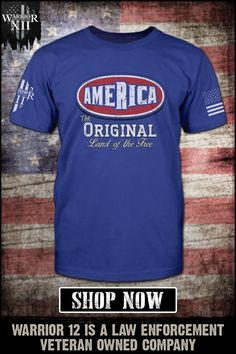 America - The Original Land of the Free. Start your summer off right. Warrior 12 is a law enforcement veteran-owned company. Cool Shirts, Funny Shirts, Tee Shirts, T Shirts With Sayings, Looks Cool, Law Enforcement, Mens Clothing Styles, American, Tortoise