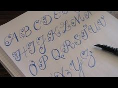 cursive fancy letters - how to write cursive fancy letters