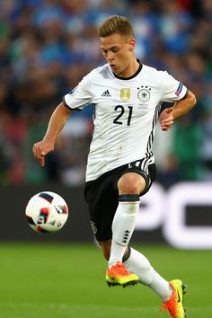 #EURO2016 Joshua Kimmich of Germany runs with the ball during the UEFA EURO 2016 quarter final match between Germany and Italy at Stade Matmut Atlantique on...