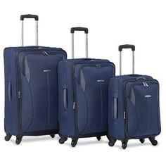 Insight 3 Piece Luggage Set Color Navy ** To view further for this item, visit the image link.