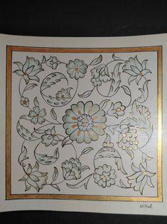 Islamic Art Pattern, Arabic Pattern, Pattern Art, Print Patterns, Glass Painting Designs, Paint Designs, Pottery Painting, Dot Painting, Islamic Calligraphy