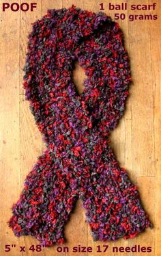 Knit Scarf Pattern Size 5 Needles : Easy-to-Knit Afghan:Knitting needles, size 13   Sensations  Rainbow Classic Y...