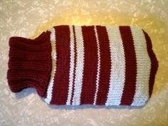 Free Knitting Pattern - Cozies: Hot Water Bottle Cozy