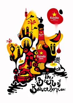 Estrella Damm, the Beer of Barcelona by Alex Trochut