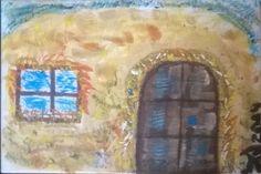 Ablak ajtó akril, vászon