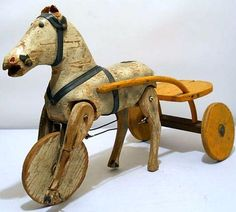 Primitive Horse Riding Toy. All Wood
