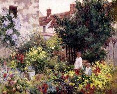 """In The Garden"" by Camille Pissaro"