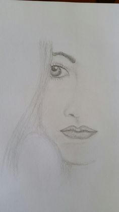 Half face girll in hb graphite