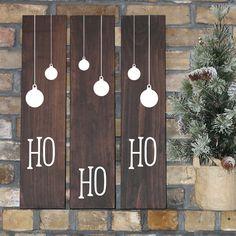 SET of 3, Ho Ho Ho wood signs, Rustic Christmas Decoration, Mantle Signs, Farmhouse Christmas, Farmhouse Christmas Sign, Christmas Wall Art