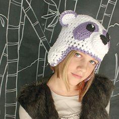 Panda Hat with Ear Flaps. $35.00, via Etsy.