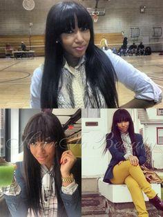 Pyt Rockn A Sleek Signature Nicki Minaj Hairstyle