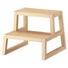 For my boys' bathroom // MOLGER Step stool - birch - IKEA