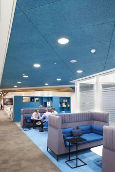 Post Office HQ at Finsbury Dials.  Heradesign acoustic ceiling panels were installed using a concealed grid system