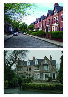 victoriaanse architectuur: combinatie hoeken en ronde vormen