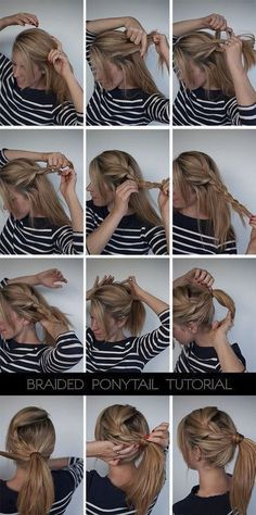 Braided Ponytail Tutorials for Long and Medium Hair.#ponytail#hairstyles#tutorials#forlonghair