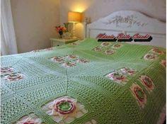 Santa Clara Artesanato: Colchas de crochê de casal