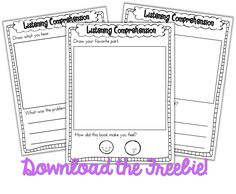 FREEBIE listening comprehension sheets