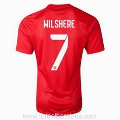 Nueva camiseta de Wilshere Inglaterra 2nd 2014-2016