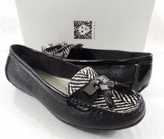 Women's Anne Klein iflex OATES Slip On Loafer Moc Flat Leather Black Size 6 #AnneKlein #LoafersMoccasins #Casual