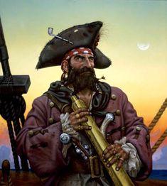 m Rogue Assassin Pirate Captain spy glass ship coastal water urban docks No Prey No Pay