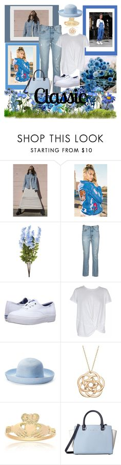 """""""The Classics Never Go Out of Style"""" by christined1960 ❤ liked on Polyvore featuring GM Studio, Levi's, Keds, MINKPINK, Betmar and MICHAEL Michael Kors"""