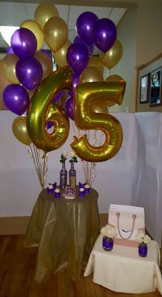 65th Birthday Cake Table