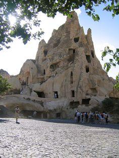 Rock-cut chapels at Göreme Open Air Museum Cappadocia Turkey