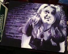 "Self-Portrait Morgan Wallace 16""x20"" 2013 Acrylic"