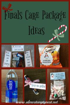 How to make a finals care package with printable decorations and tags.