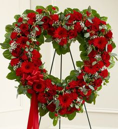 Order Always Remember Red Floral Heart Tribute flower arrangements from All Flowered Up Too, your local Lubbock, TX florist. Send Always Remember Red Floral Heart Tribute floral arrangement throughout Lubbock and surrounding areas. Funeral Floral Arrangements, Flower Arrangements, Funeral Flowers, Wedding Flowers, Funeral Sprays, Corona Floral, Memorial Flowers, Cemetery Flowers, Sympathy Flowers