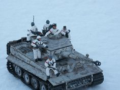"""This model has the complete interior. I've had it for a long time, actually loaned it to a fellow collector for 20 years. He returned it right about the time I found the set of """"Tank Riders"""" for 1/2 price or better at Squadron."""