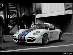 Porsche Cayman -Martini stripes.