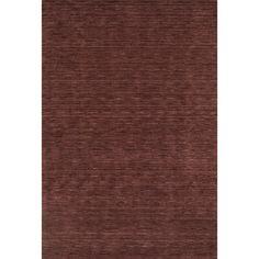 Tonal Solid 100% Wool Area Rug - Plum (Purple) (9'x13')