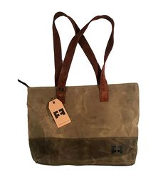 ZIPPER TOTE by FAT FELT :: Travel Shoulder Bag in Waxed Canvas and Suede Leather -- Check out this great product. (This is an Amazon Affiliate link and I receive a commission for the sales)