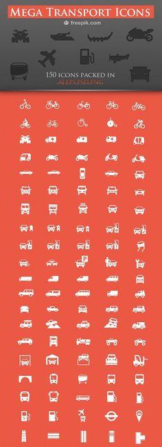 150 Free Transport Icons