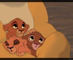 "Kovu and Kiara's cubs ""Baby"" - Koda (son), Asha (daughter) and Leah (daughter)"