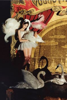 from  Tim Walker's The Greatest Show on Earth shoot in the December 2004 issue.of Vogue.