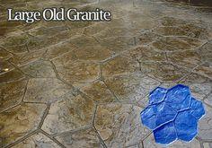 stamped concrete large old granite