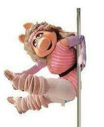 Even Miss Piggy takes Pole Fitness classes! Find out how much fun it is with a Miss Piggy, Pole Dance, Pole Fitness Classes, Pole Dancing Fitness, Fraggle Rock, The Muppet Show, Still Love Her, Dance Humor, This Little Piggy