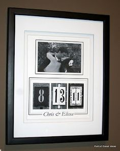 Wedding Date Art- with links to letters and numbers to use