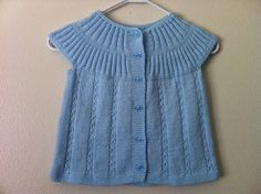 Hand Knit Toddler Baby Sweater Vest, Knitting Baby Clothing, Toddler Baby Vest, Usa seller